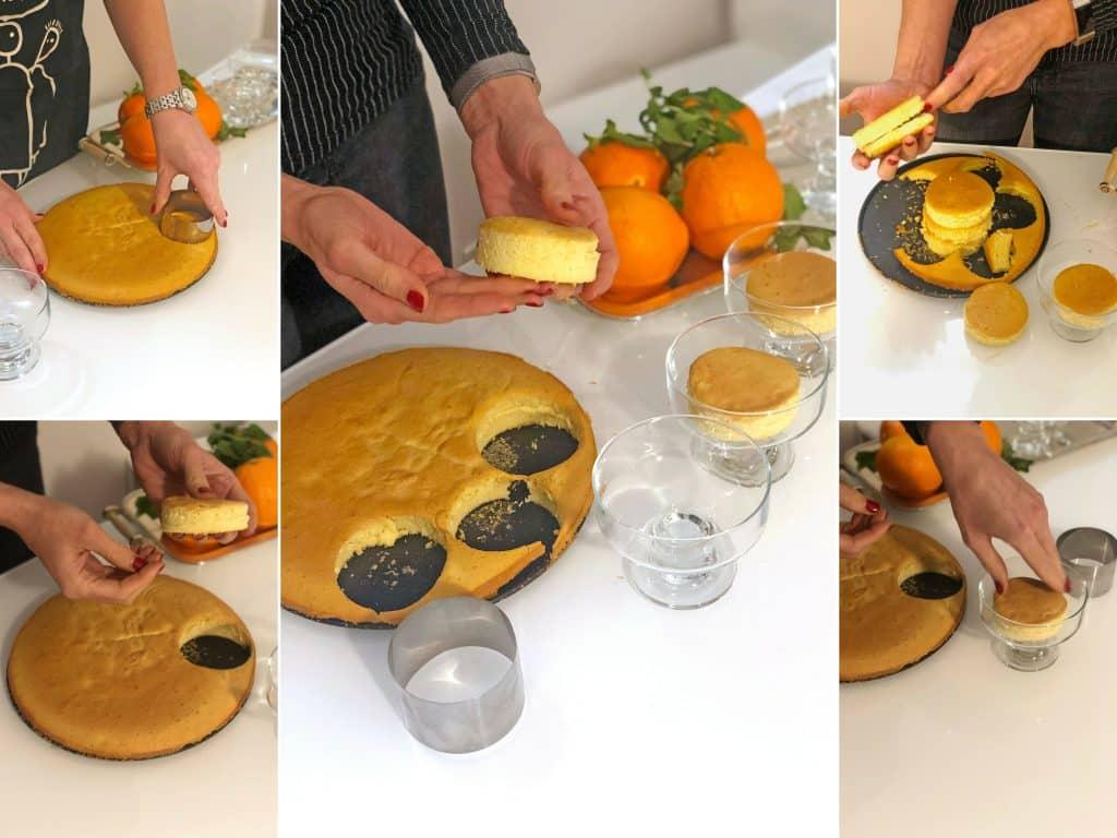 mousse all'arancia: taglio del pan di Spagna mousse Mousse all'Arancia taglio pan di spagna 1024x768